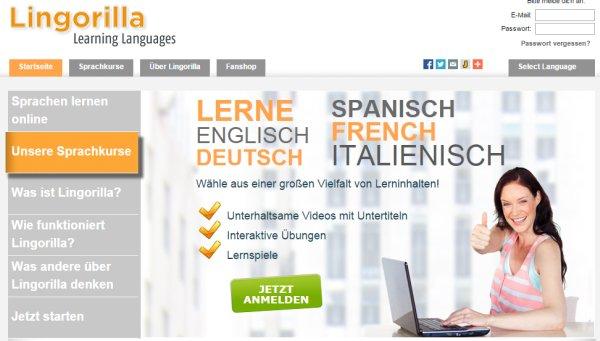 Englisch lernen mit Videos mit Lingorilla